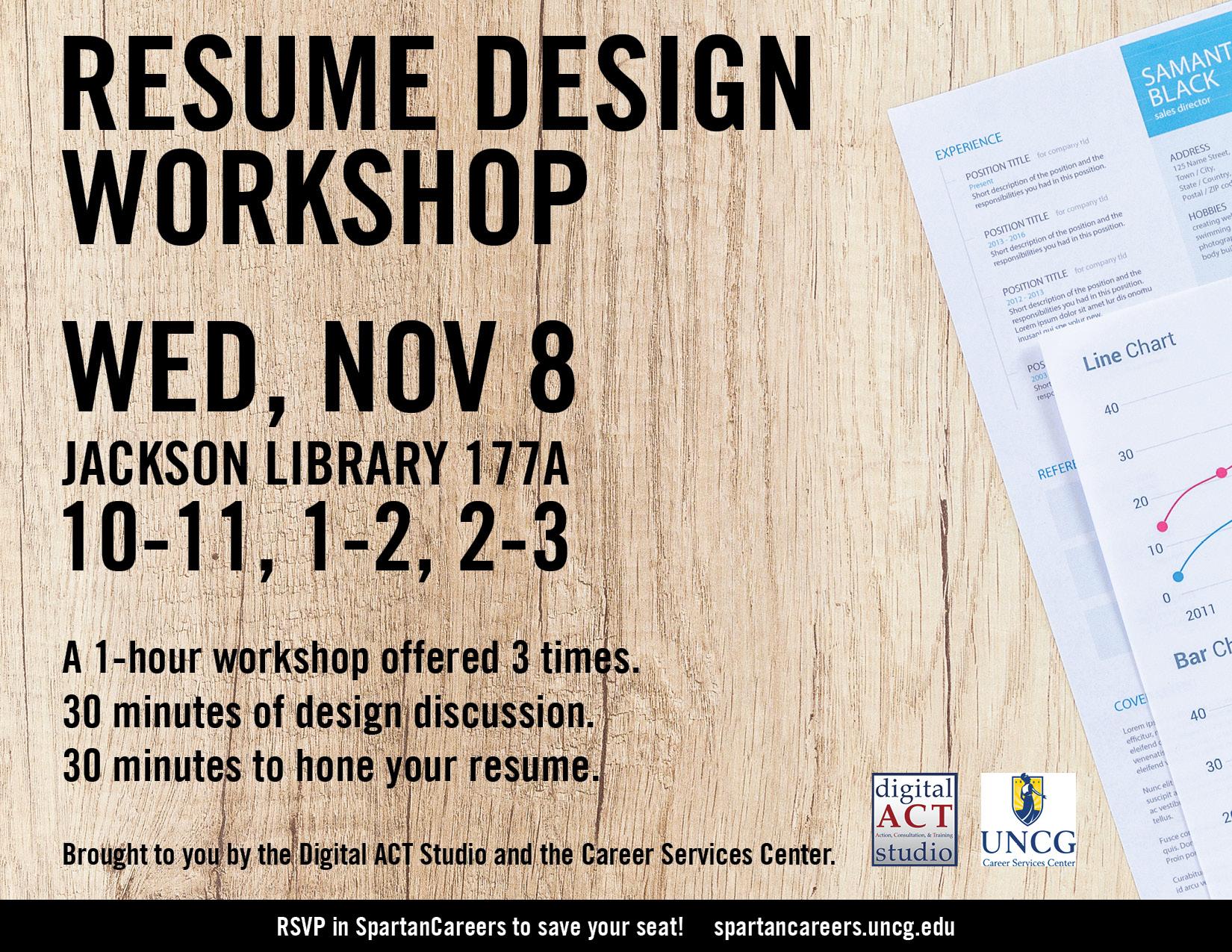 resume design workshop  nov  8